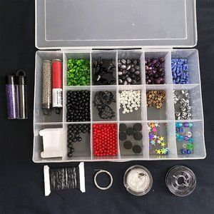 Lot of Beads/Materials for Necklaces/Bracelets